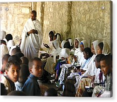 Ethiopian Orthodox Teachings Acrylic Print by Cherie Richardson
