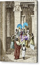Euclid And Ptolemy Soter, King Of Egypt Acrylic Print by Sheila Terry
