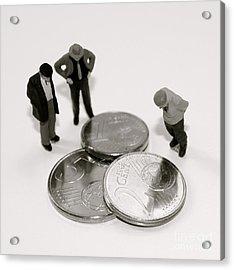 Euro Crisis Acrylic Print by Louise Fahy
