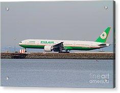 Eva Airways Jet Airplane At San Francisco International Airport Sfo . 7d12260 Acrylic Print by Wingsdomain Art and Photography