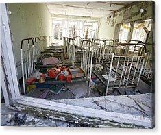 Evacuated Kindergarten Near Chernobyl Acrylic Print by Ria Novosti