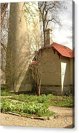 Evanston Illinois Lighthouse In Spring Acrylic Print by Jennifer Holcombe