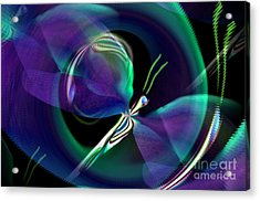 Eve Of The Dragonfly Acrylic Print by Maria Urso