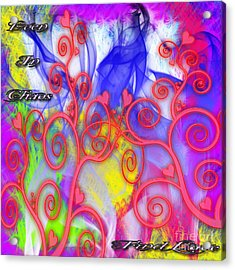 Acrylic Print featuring the digital art Even In Chaos Find Love by Clayton Bruster