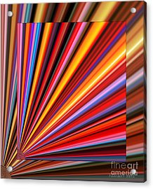 Even Lines Get Colorful Acrylic Print by Fania Simon
