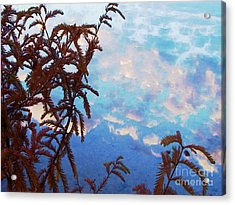 Even The Weeds Acrylic Print by Steven Lebron Langston