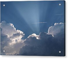 Even Through The Clouds You Will Find A Ray Of Sunshine Acrylic Print