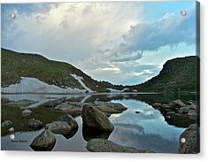 Acrylic Print featuring the photograph Evening At Summit Lake by Stephen  Johnson