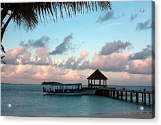 Acrylic Print featuring the photograph Evening Clouds by Shirley Mitchell