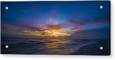 Evening Colors Acrylic Print by Nick  Shirghio