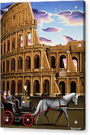 Evening In Rome Acrylic Print