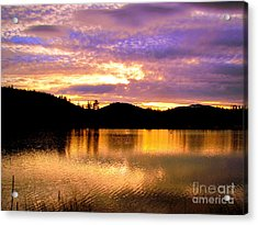 Acrylic Print featuring the photograph Evening Lake Britton by Irina Hays
