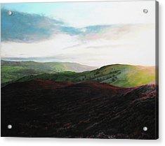 Evening Landscape Towards Llangollen Acrylic Print
