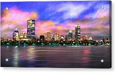 Evening Lights Acrylic Print by Robert Smith
