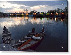 Evening On Dal Lake Acrylic Print by Fotosas Photography