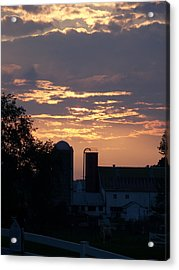 Acrylic Print featuring the photograph Evening On The Farm by Robin Regan