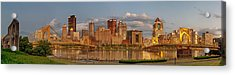 Evening Panorama Acrylic Print by Jennifer Grover