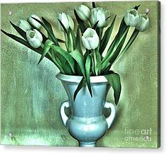 Evening Party Tulips Acrylic Print by Marsha Heiken