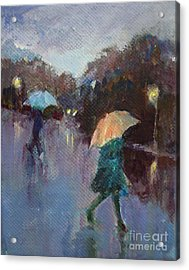 Evening Rain Acrylic Print by Diane Ursin
