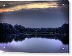 Evening Reflections Acrylic Print by Barry Jones