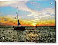 Evening Sailing Acrylic Print