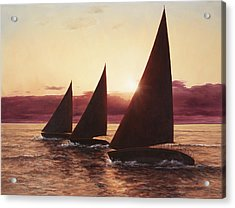 Evening Sails Acrylic Print