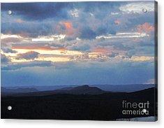Evening Sky Over The Quabbin Acrylic Print by Randi Shenkman