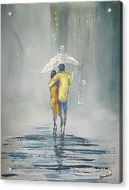 Acrylic Print featuring the painting Evening Stroll by Raymond Doward