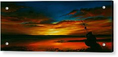 Evening Tide Acrylic Print by Jan Farthing