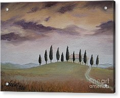 Evening Tuscany Acrylic Print
