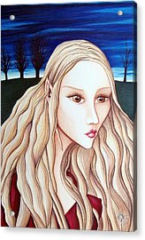 Acrylic Print featuring the drawing Eventide by Danielle R T Haney