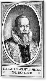 Everardus Vorstius, Dutch Physician Acrylic Print by Middle Temple Library