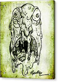 Acrylic Print featuring the drawing Evil Snot Monster by Nada Meeks
