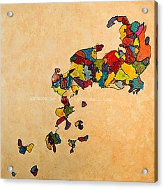 Evolution V Creationism Acrylic Print by Jan Farthing