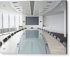 Executive Boardroom Acrylic Print by Dave & Les Jacobs