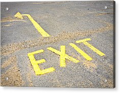 Exit Sign Acrylic Print by Tom Gowanlock