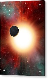 Exoplanet And Parent Star, Artwork Acrylic Print by David Ducros