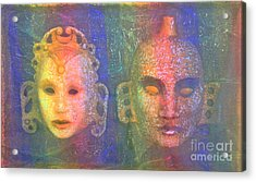 Acrylic Print featuring the painting Exotic Couple by Nareeta Martin