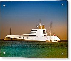 Exotic Yacht Acrylic Print