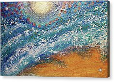 Acrylic Print featuring the painting Expansion  Heaven For Pandemonium Set Painting  by D Renee Wilson