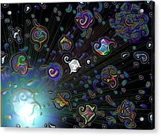 Acrylic Print featuring the digital art Exploding Star by Alec Drake