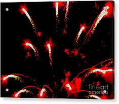 Explosion Of Red Acrylic Print