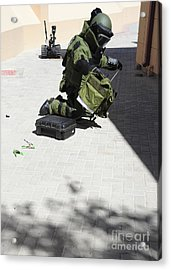 Explosive Ordnance Disposal Technician Acrylic Print by Stocktrek Images