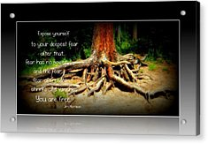 Acrylic Print featuring the photograph Expose Yourself by Michelle Frizzell-Thompson
