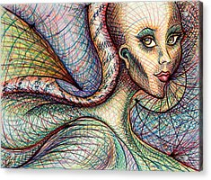 Acrylic Print featuring the drawing Exposed by Danielle R T Haney
