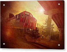 Express Train Acrylic Print by Joel Witmeyer
