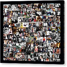 Extended Family Photo Collage Acrylic Print by Maureen E Ritter