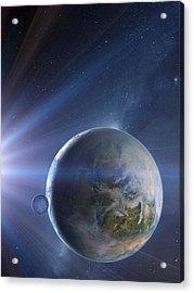Extrasolar Earth-like Planet, Artwork Acrylic Print by Detlev Van Ravenswaay
