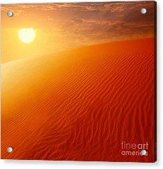 Extreme Desert Land Acrylic Print by Anna Om