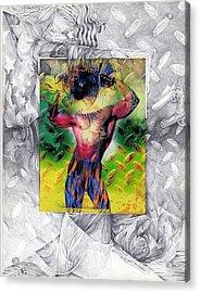 Eye-con Digi-man Acrylic Print by Leo Vincent